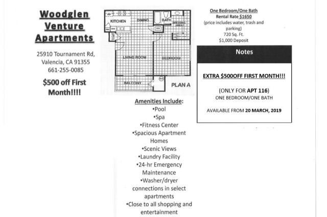 24408 McBean Pkwy #116, Valencia, CA 91355 - 1 Bed, 1 Bath