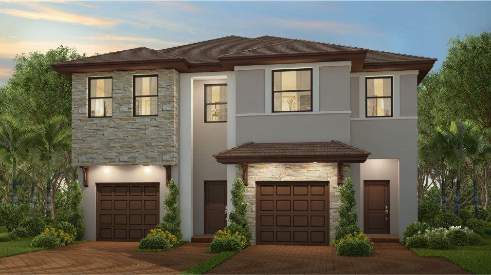 Rosebrook Plan in Campo Bello : Twin Homes, Homestead, FL 33032