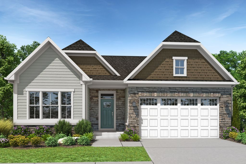 Bramante Ranch w/ Finished Lower Level Plan in Villas at Fieldstone Farms, Middletown, OH 45044