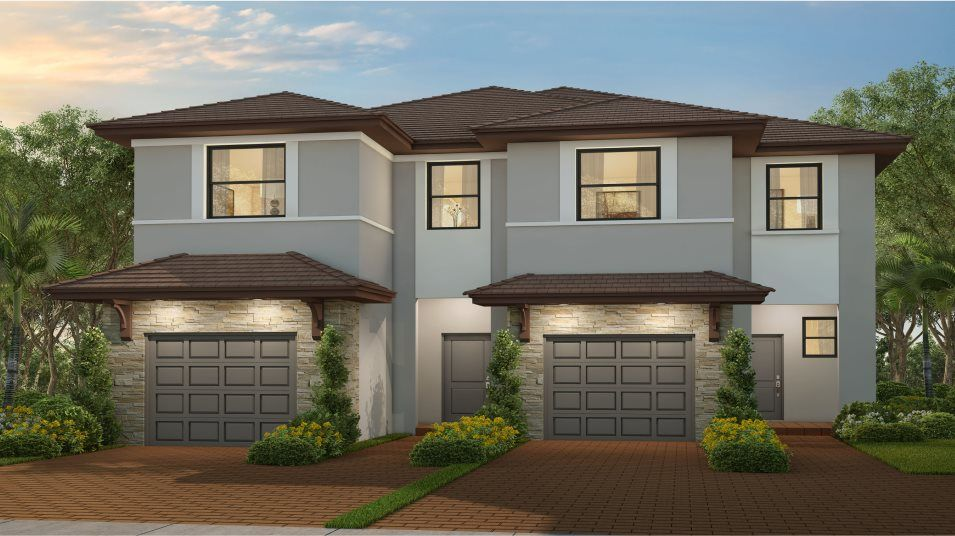 Meadow Plan in Campo Bello : Twin Homes, Homestead, FL 33032