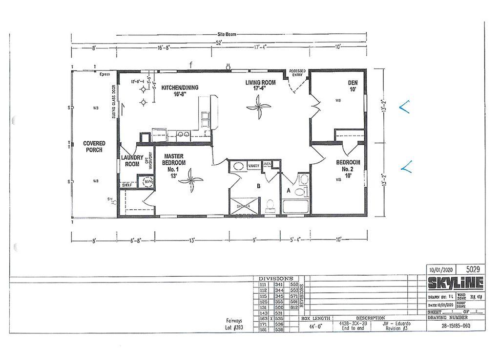 14627 FIRESTONE ST. Plan in Fairways Country Club, Orlando, FL 32826