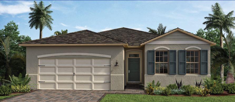 DELRAY Plan in Oak Leaf Preserve-Freedom Homes, Edgewater, FL 32132