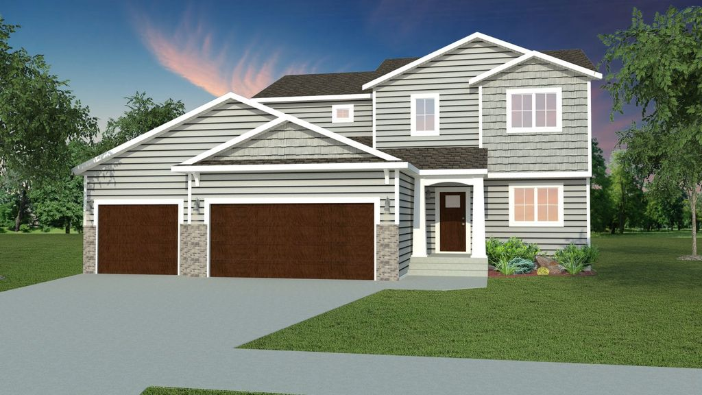 2160 CLASSIC 2 STORY 3 STALL Plan in Crary, Grand Forks, ND 58201