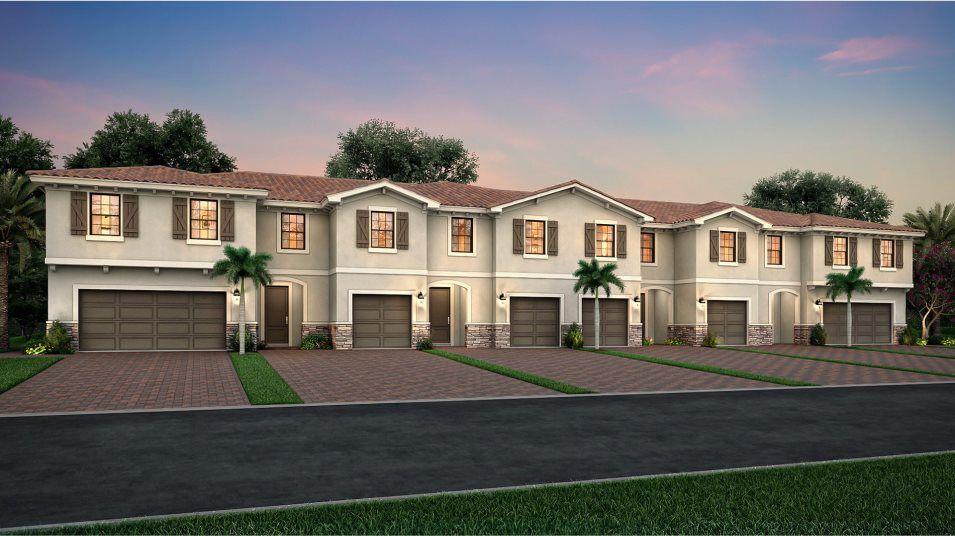 Chestnut Plan in Arbor Parc : Townhomes, Palm Beach Gardens, FL 33410