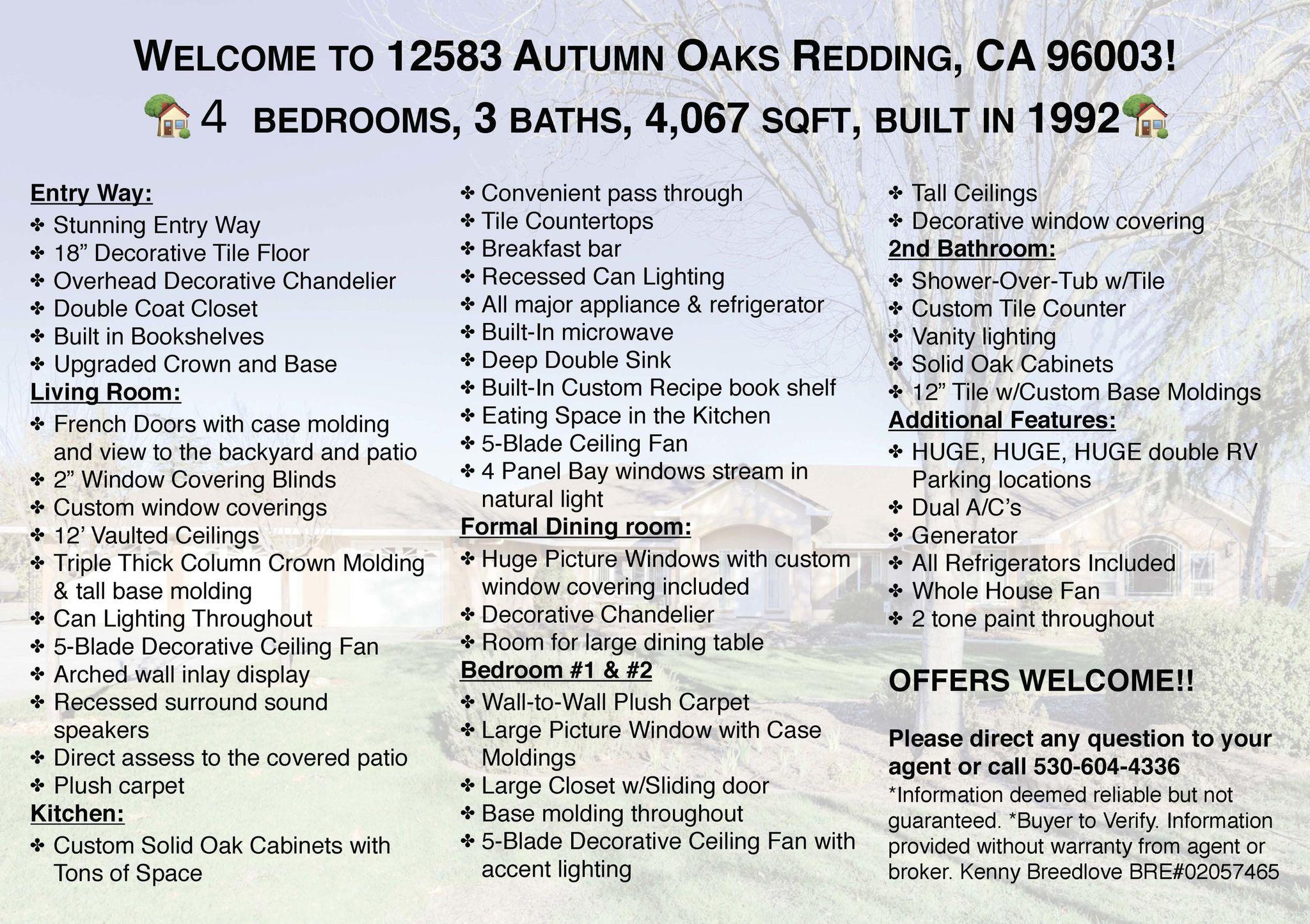 12583 Autumn Oaks Ln, Redding, CA 96003 - 5 Bed, 3 Bath Single